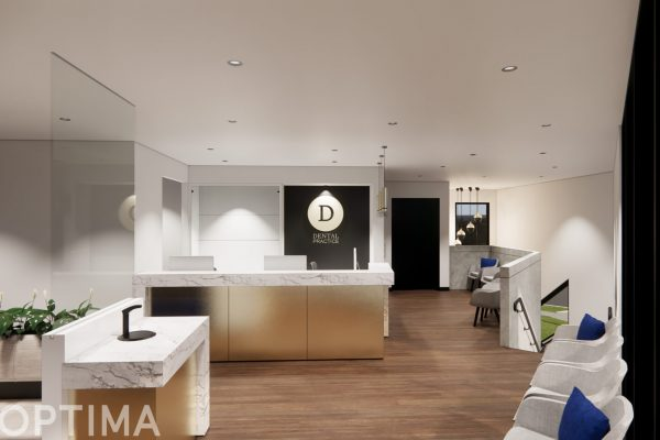 OPTIMA Dental Practice - Reception Render