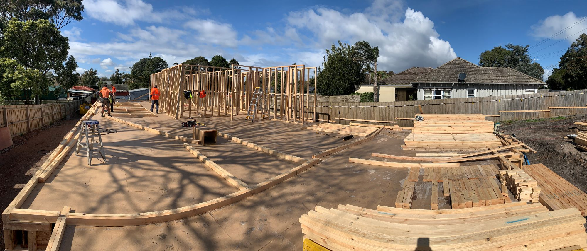 Project Update – Wall frames & set out